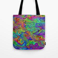 Atomic rainbow splash Tote Bag