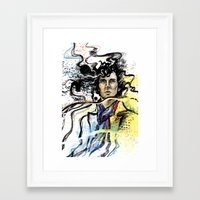 brain waves Framed Art Prints featuring Brain Waves by otterymary