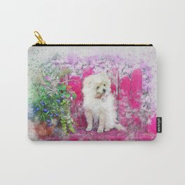 Dog Puppy Pomeranian Carry-All Pouch