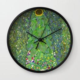 Sunflower - Gustav Klimt Wall Clock