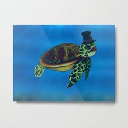 Elegant Turtle Metal Print