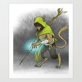 Wolf Mage Art Print