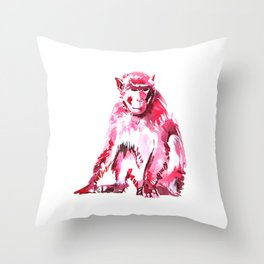 Monkey Just Sitting Around Throw Pillow