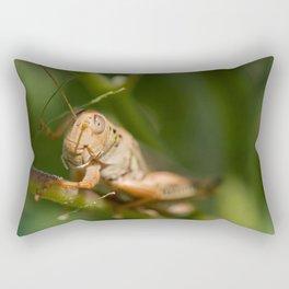 Golden Grasshopper Rectangular Pillow