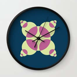 015 Abstract blue, orange and light green pattern for home decoration Wall Clock