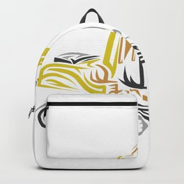 excavator tribal Backpack