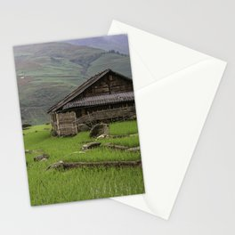 Vietnam village shack Stationery Cards