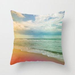 Beach in Colours Throw Pillow