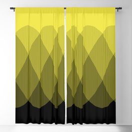 Yellow Ombre Signal Blackout Curtain