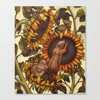 autumn Canvas Prints featuring Autumn by Kate O'Hara Illustration