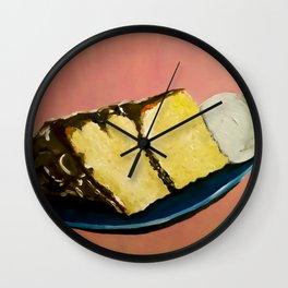 YELLOW CAKE AND ICE CREAM Wall Clock