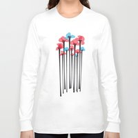 tulip Long Sleeve T-shirts featuring Tulip by GabrieleCigna
