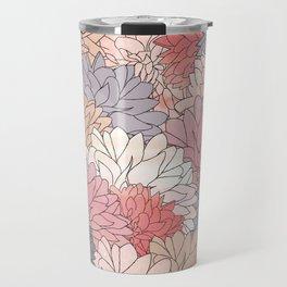 Hydrangea Haven - Muted Colors Travel Mug