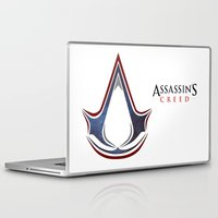 assassins creed Laptop & iPad Skins featuring Assassins Creed - Space by Fatih