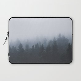 Mysterious forest in the fog Laptop Sleeve