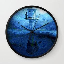 Midnight fishing Wall Clock
