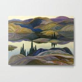 Canadian Landscape Franklin Carmichael Art Nouveau Post-Impressionism Mirror Lake Metal Print