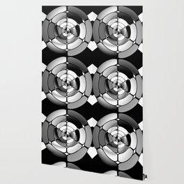 Chromed black and white Wallpaper