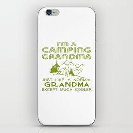 Camping Grandma iPhone Skin