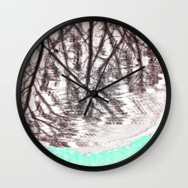 Glitch in the Forest Wall Clock
