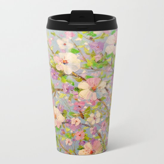 Apple tree in bloom Metal Travel Mug