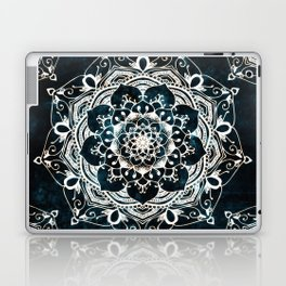 Glowing Spirit Mandala Blue White Laptop & iPad Skin