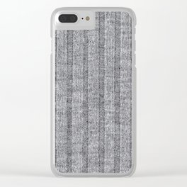 Soft Grey Jersey Knit Pattern Clear iPhone Case