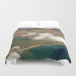 view from a plane Duvet Cover