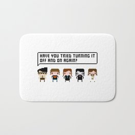 The IT Crowd Characters Bath Mat