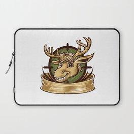 Cartoon Deer mascot  Laptop Sleeve