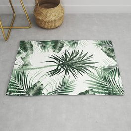 Tropical Summer Vibes Leaves Mix #2 #tropical #decor #art #society6 Rug