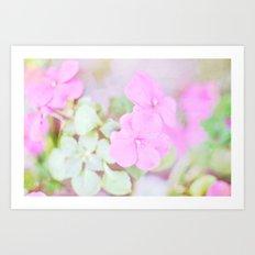 Soft Pinkness Texture Art Print