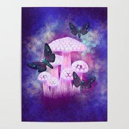 Twilight Moths Poster