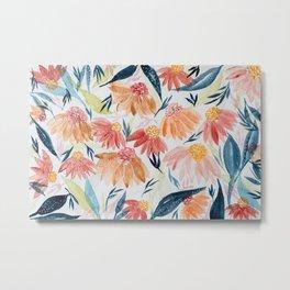 Flowers Meadow Metal Print