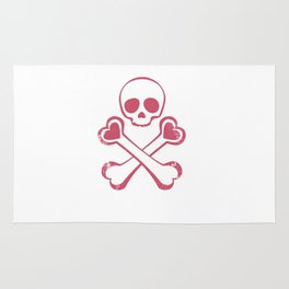 Valentine's day T-shirt Love With Jolly Roger Rug