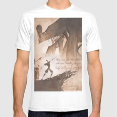 The Tale of Three Brothers White Mens Fitted Tee MEDIUM