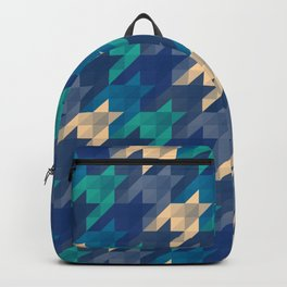 Origami houndstooth blues Backpack