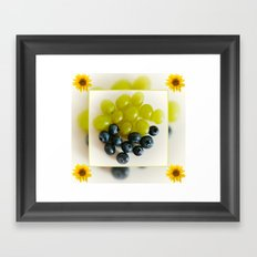 Grapes and Blueberries Framed Art Print