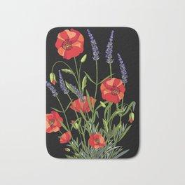 Poppies & Lavendar Bath Mat