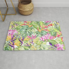 Tropical Garden 1A #society6 Rug