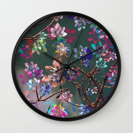 Floral abstract 76 Wall Clock