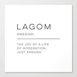 Lagom Definition Canvas Print