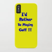 golf iPhone & iPod Cases featuring Golf by Brian Raggatt