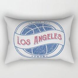 Los Angeles basketball white vintage logo Rectangular Pillow