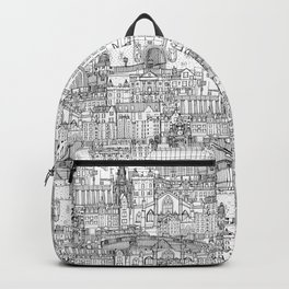 Edinburgh toile black white Backpack