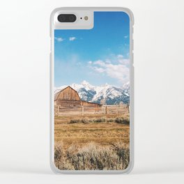 The Grand Tetons Clear iPhone Case