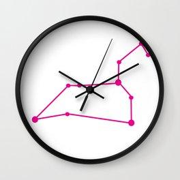 Leo (Magenta & White) Wall Clock