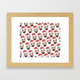 Drake Santa Clause Christmas Hannukkah Pattern Framed Art Print