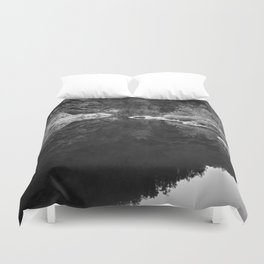 Shoreline Reflection On the Water Duvet Cover