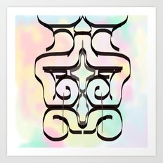 the avant-garde in pastel colours . Japanese Art Print